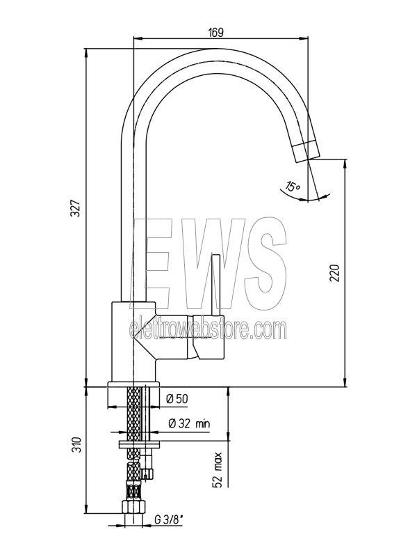 Paini Cox miscelatore monocomando lavello bocca alta orientabile 78CR572