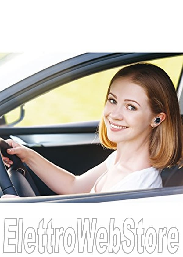 CHIAMASICURO caricatore auto con auricolare Bluetooth incorporato