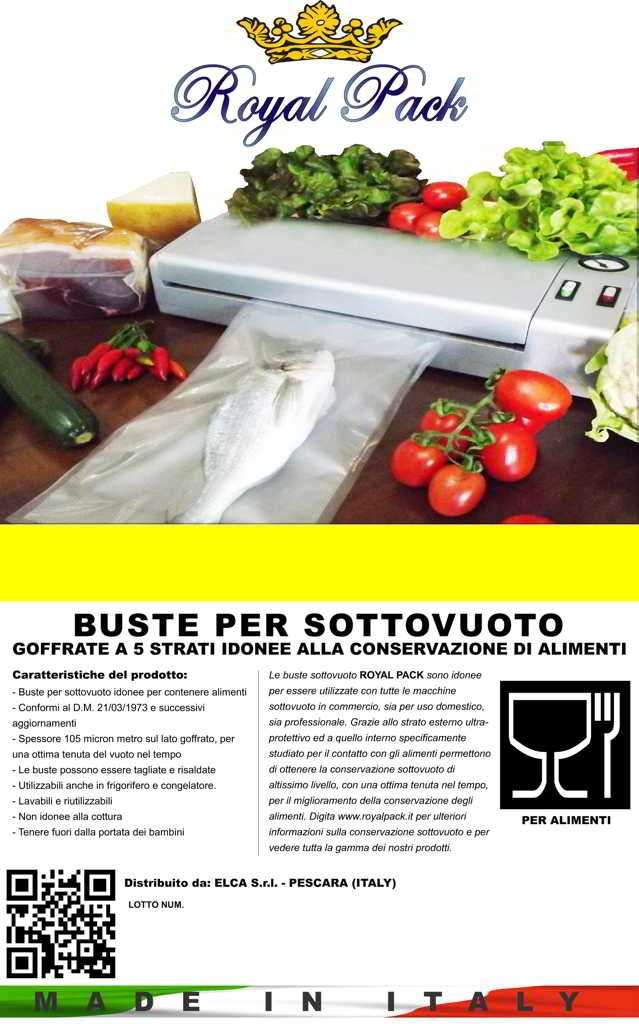 ROYAL PACK Buste sottovuoto goffrate universali