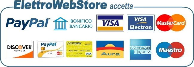 Metodi di pagamento accettati sul sito ElettroWebStore