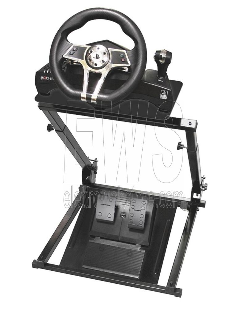 XTREME stand metallo supporto volante pedaliera 90457 game cockpit foldable jarama