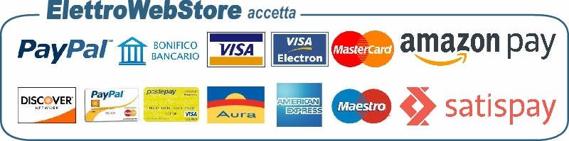 Questi sono i metodi di pagamento accettati da ElettroWebStore.com