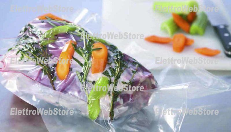 ROYAL PACK iVacuum Buste sottovuoto goffrate per cottura confezione da 25 sacchetti