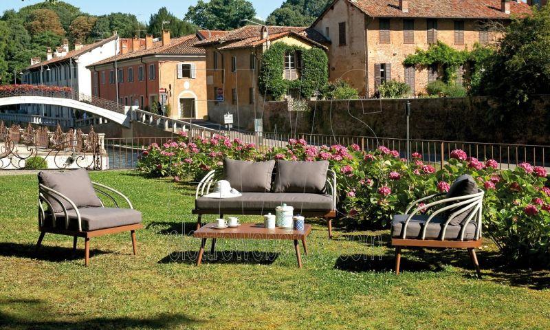 Imperia tavolo + divano e 2 sedie coffee set SET104