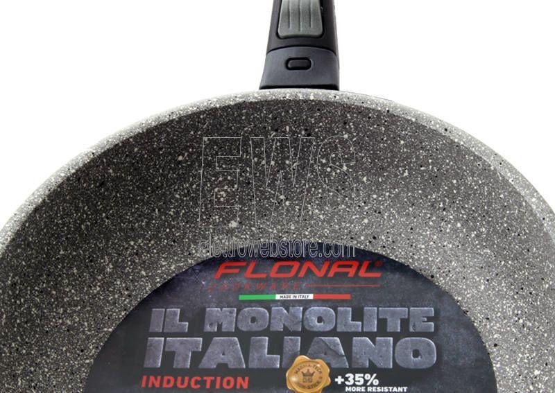 Flonal Monolite padella induzione con manico estraibile strati che compongono il prodotto