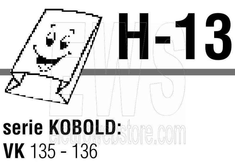 Confezione da 5 sacchi in microfibra Vorwerk Folletto VK 135 - 136 TSIH13
