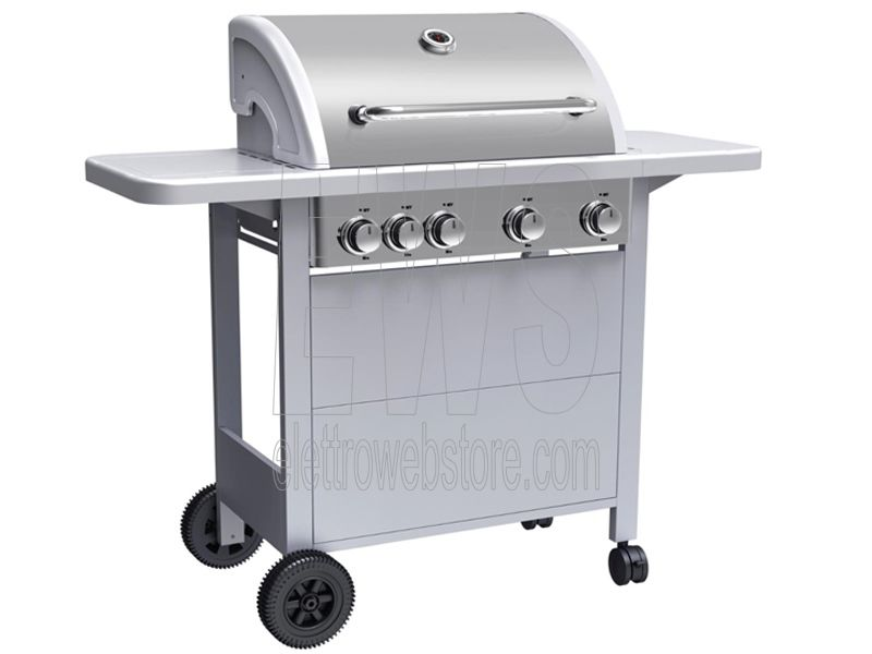 Ferraboli barbecue a gas GPL acciaio 4+1 fuochi