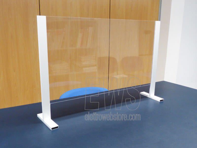 Paratia con supporto barriera protezione anticontagio plexiglass