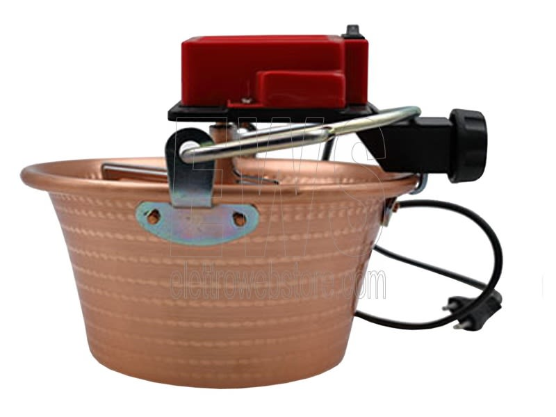 Botta Cuoca Automatica paiolo rame 26 cm 4 litri 5 Watt