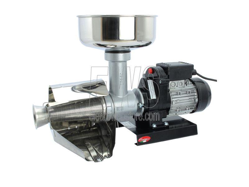 Reber spremipomodoro elettrico n5 600 Watt 0,80 HP 9000N corpo ghisa accessori inox