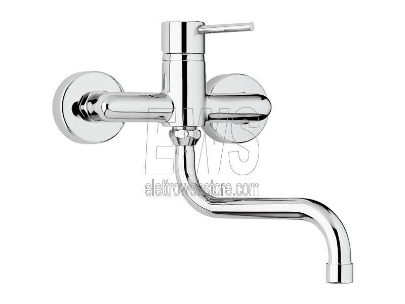 Paini Cox miscelatore rubinetto lavello a muro 78CR501