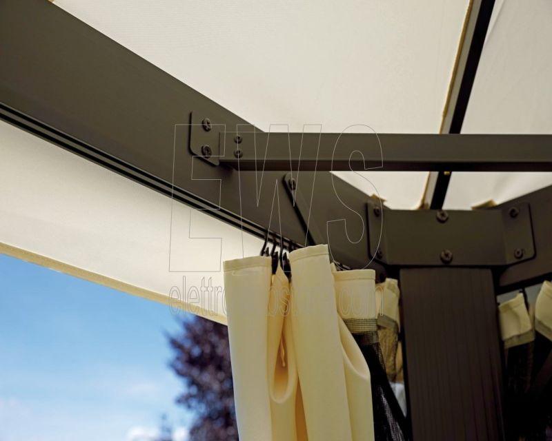 Gazebo 6x3 metri poliestere telaio alluminio GAZ063