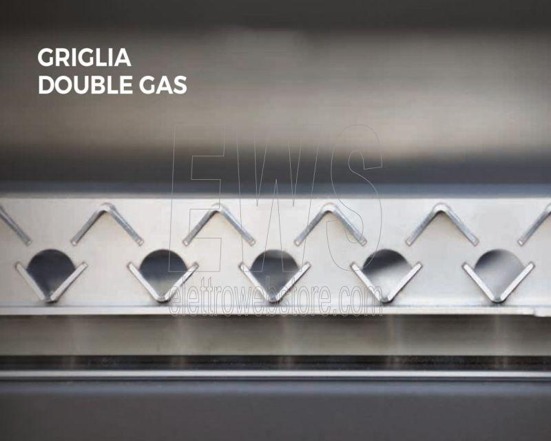 FOGHER griglia graticola FGD-FM inox doppia con piedi 645x395 mm