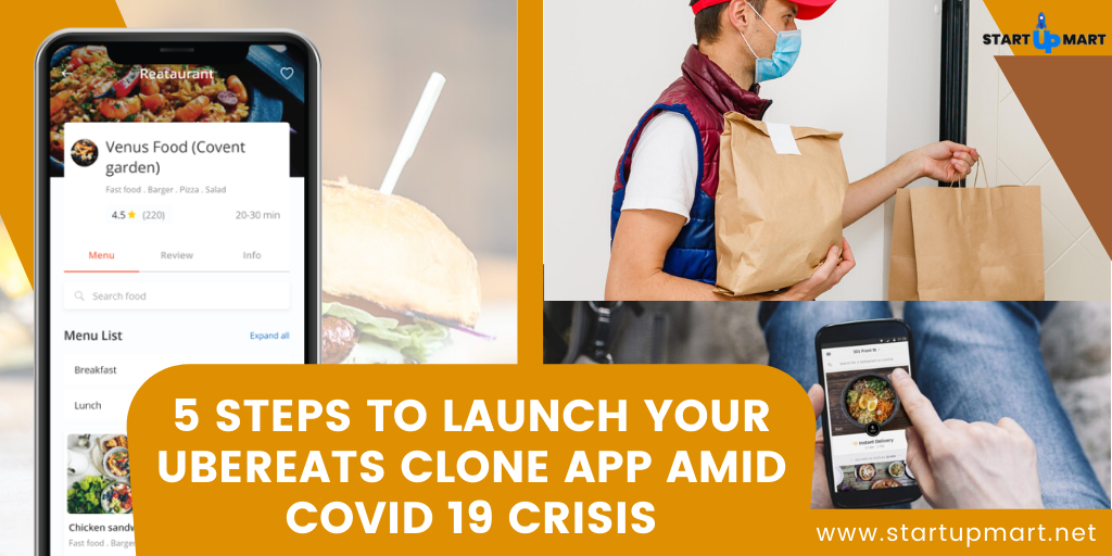 5 Steps to Launch your UberEats Clone App Amid COVID 19 Crisis
