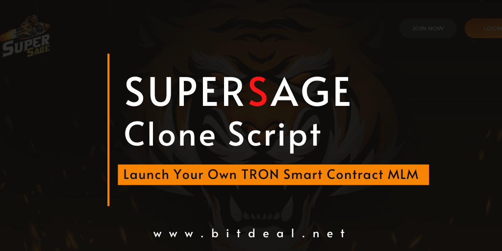 Supersage Clone - A Key To Start a Next-Gen Decentralized Smart Contract MLM On TRON