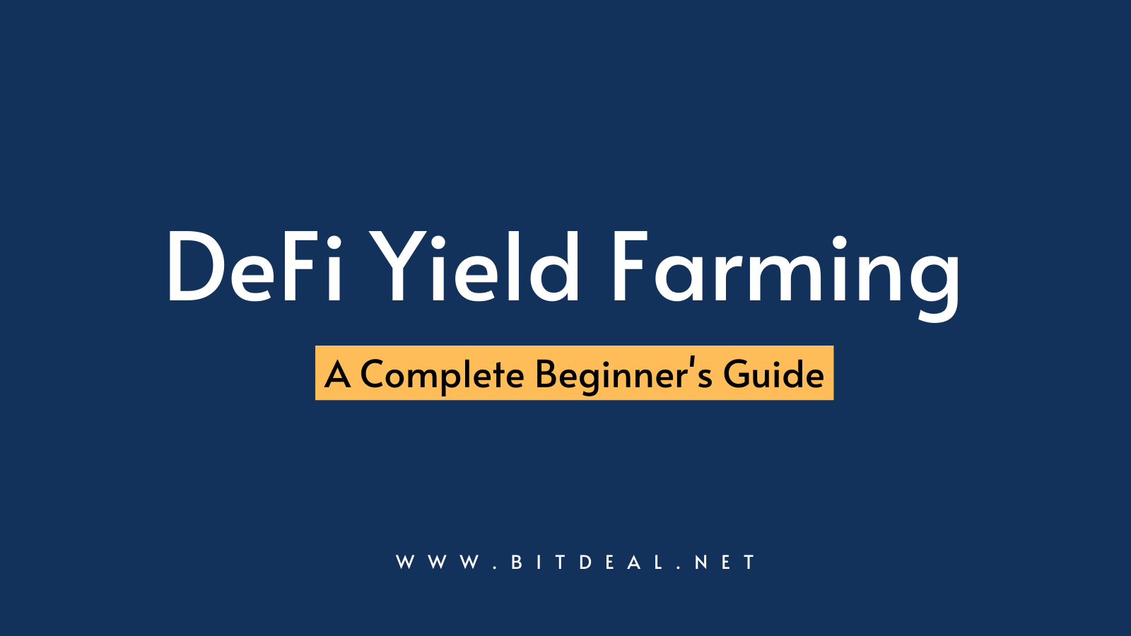 What is DeFi Yield Farming ? - A Complete Beginners Guide
