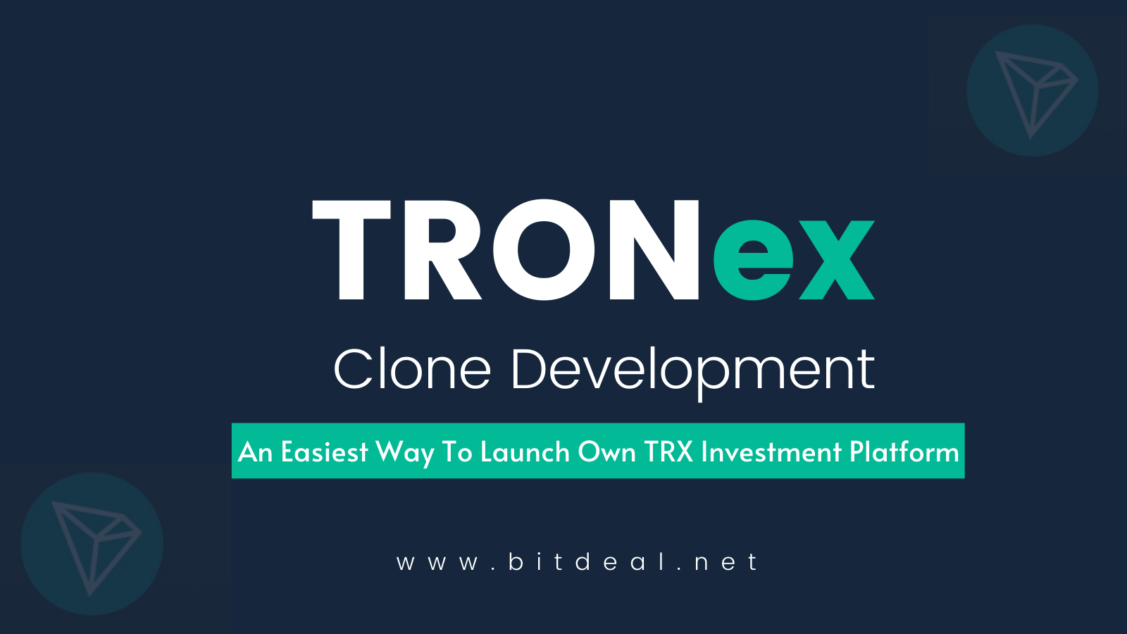 TRONex Clone - Launch Your Own TRON Investment Smart Contract Platform
