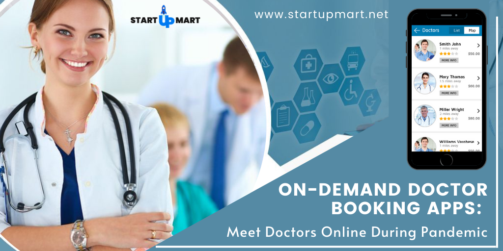 On-Demand Doctor Booking App  - A Solution For Doctors and Patients To Meet Online During Covid19 Pandemic