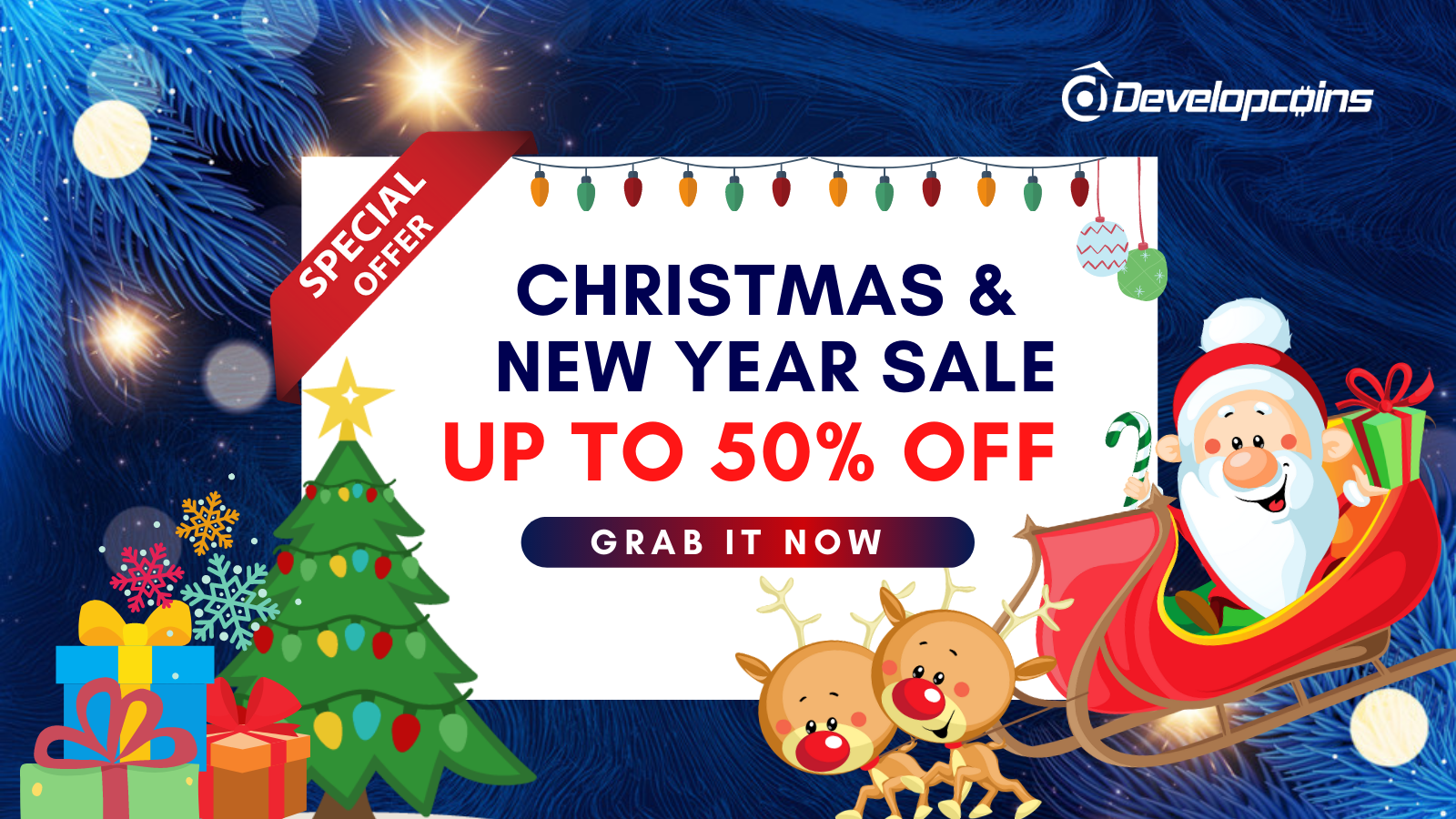 Grab Exclusive Christmas And New Year Super Sale Offers from Developcoins!