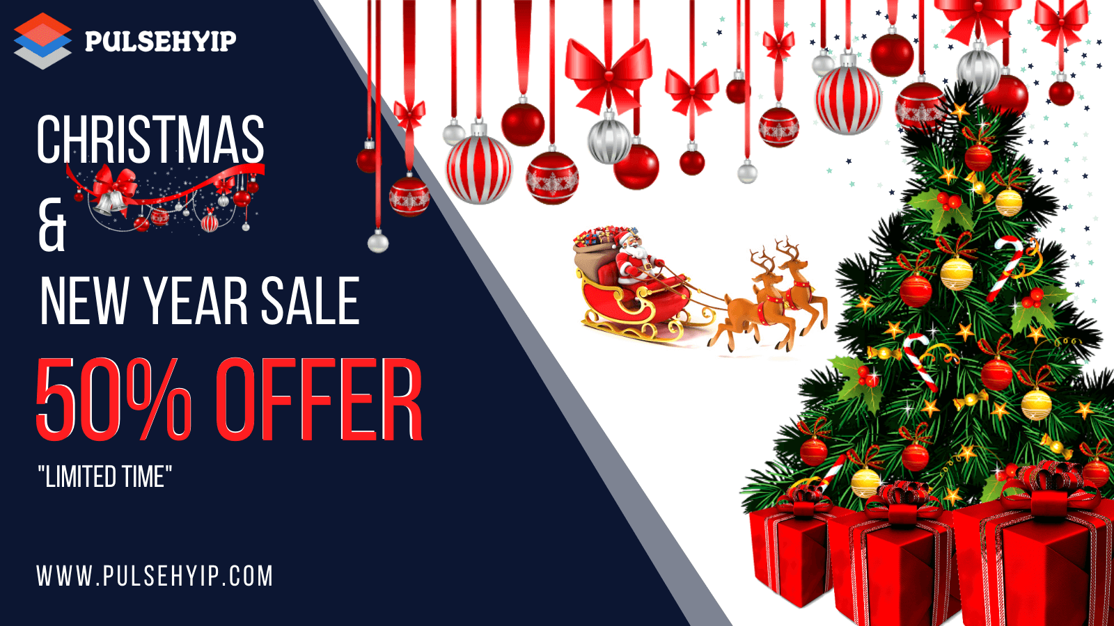 Amazing Christmas and New Year Sale Offers From Pulsehyip