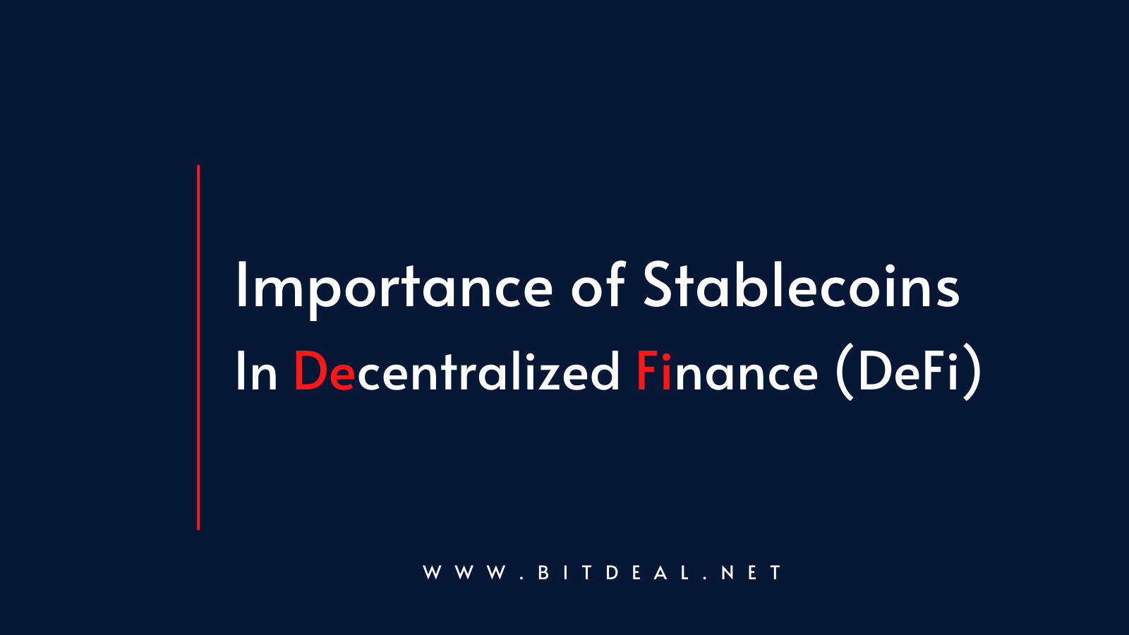 Why Stablecoin is an important factor in DeFi?