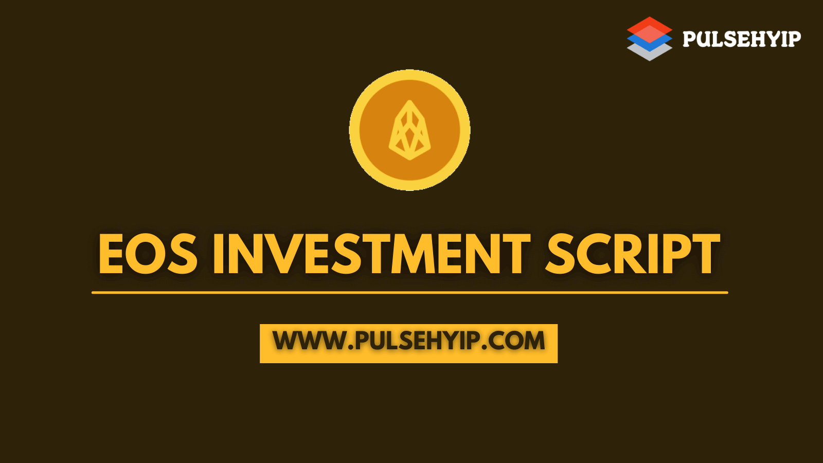 EOS Investment Script to Start Investment Platform on EOS Network