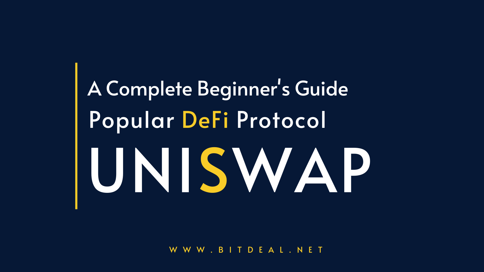The Ultimate Guide To Uniswap : A DeFi Based DEX Exchange