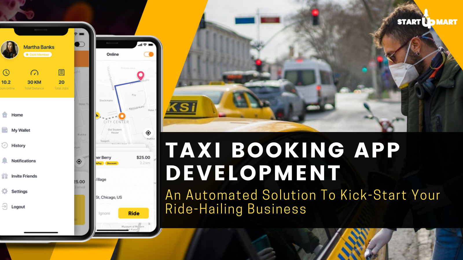Taxi Booking App Development: An Automated Solution To Kick-Start Your Ride-Hailing Business