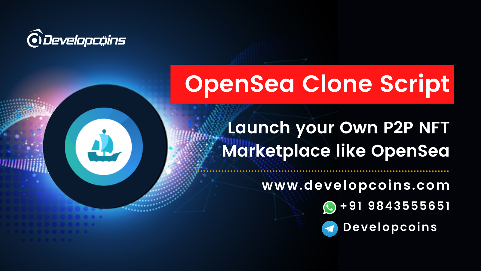 Launch Your Own P2P NFT Markeplace Platform like OpenSea