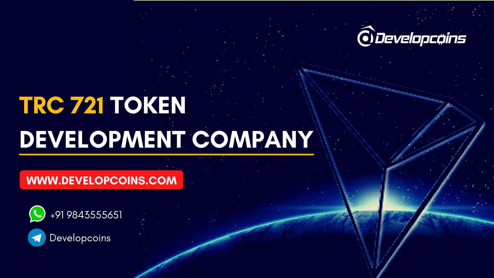 TRC 721 Token Development Company | Developcoins
