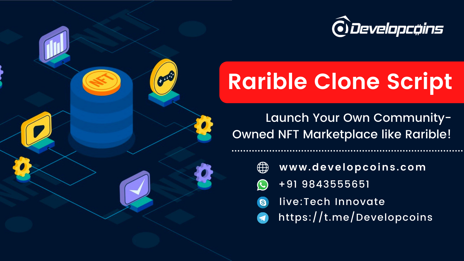 Launch Your Own Community-Owned NFT Marketplace like Rarible