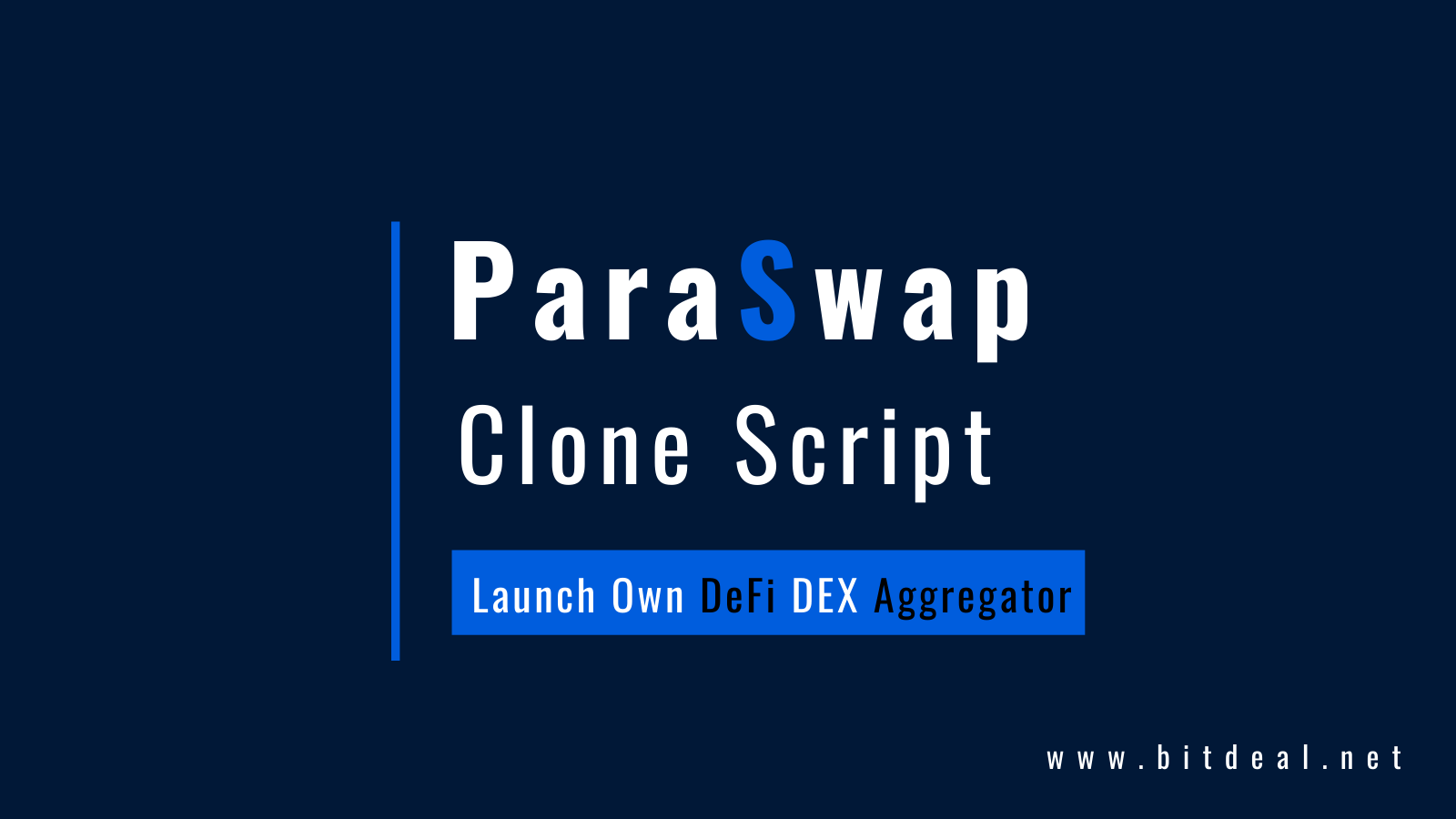 Paraswap Clone Script - Launch Your Own DeFi Based DEX Aggregator