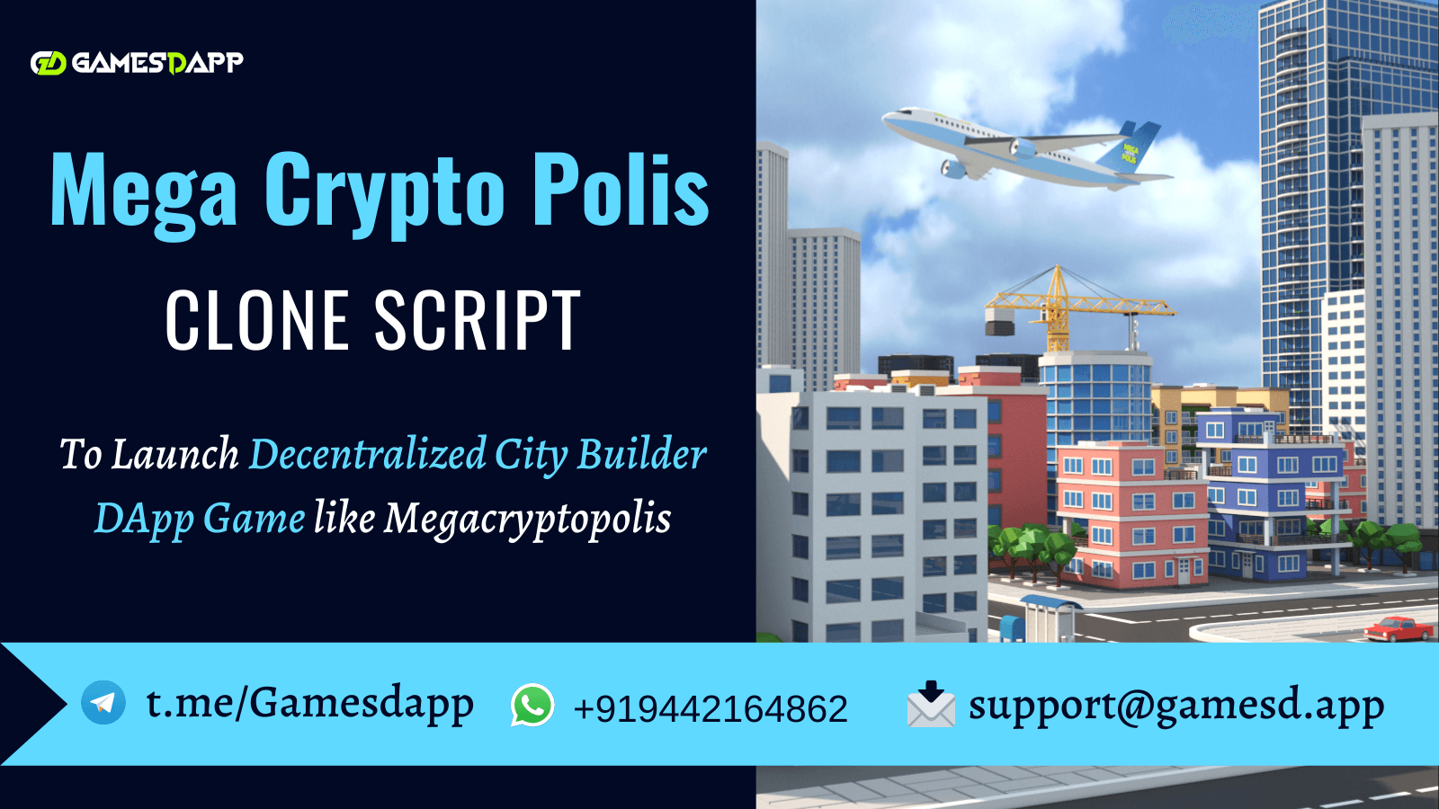 Megacryptopolis Clone Script - To Build Decentralized City Builder Strategy Game on Different Blockchain Networks
