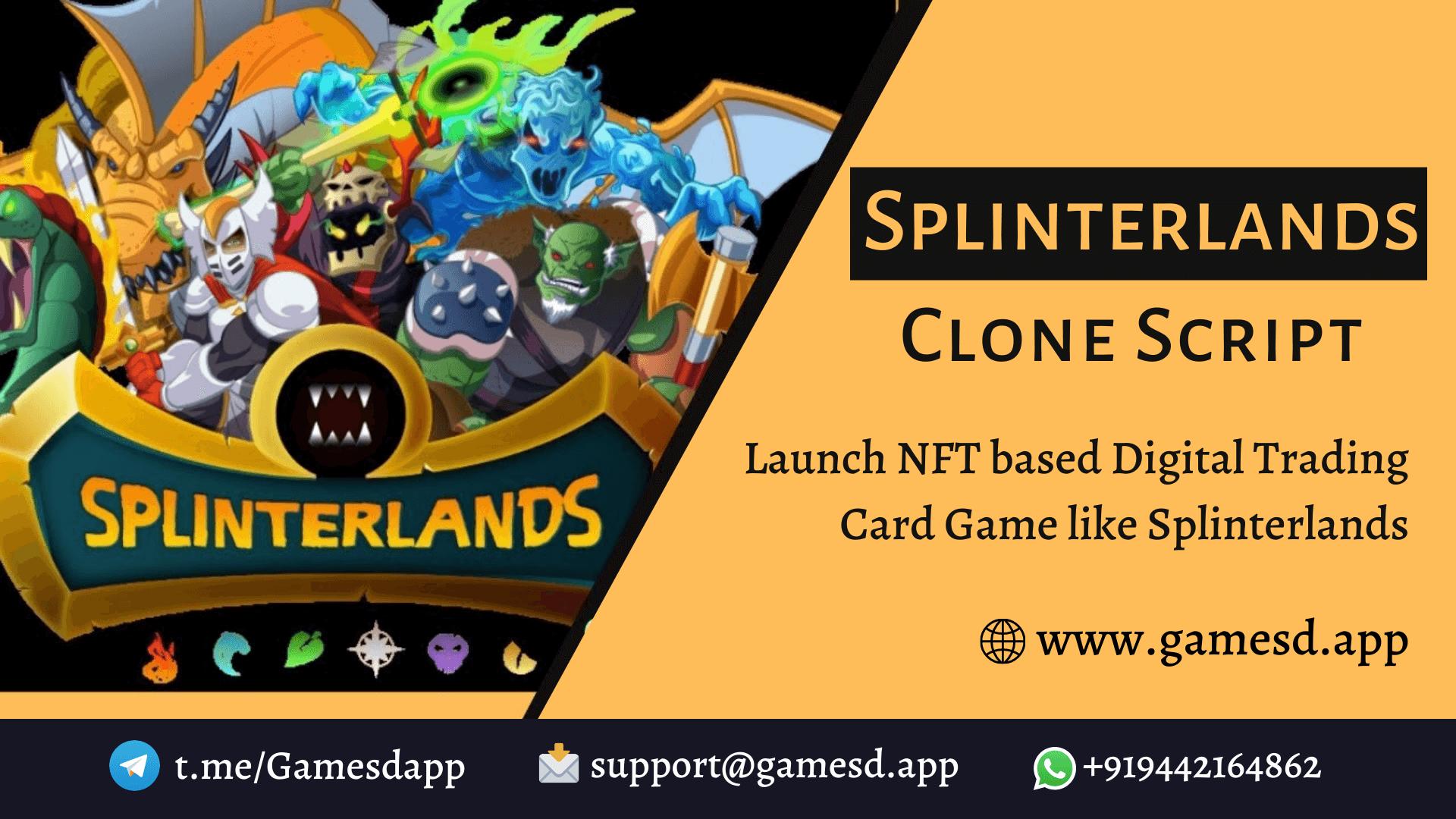 Splinterlands Clone Script To Launch NFT based Digital Trading Card Game on Popular Blockchain Network