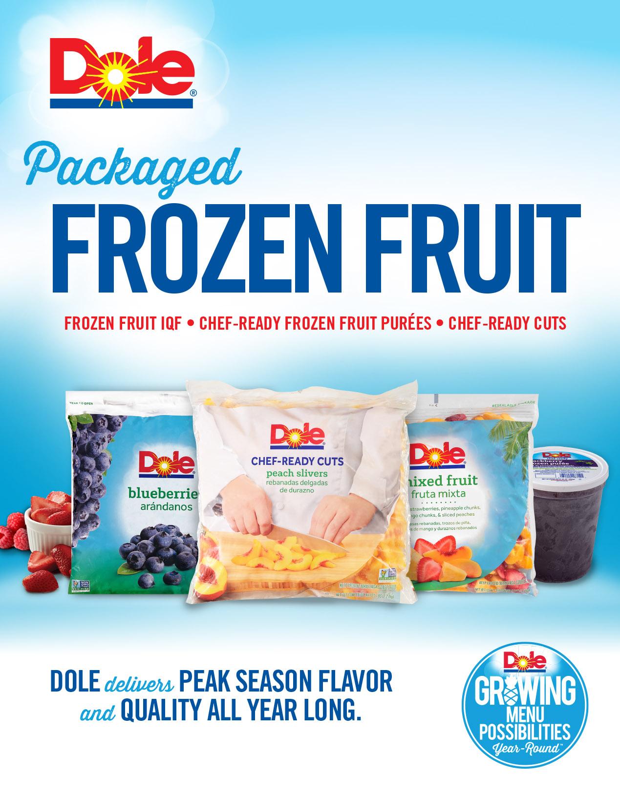 Dole frozen fruit brochurecv exreub