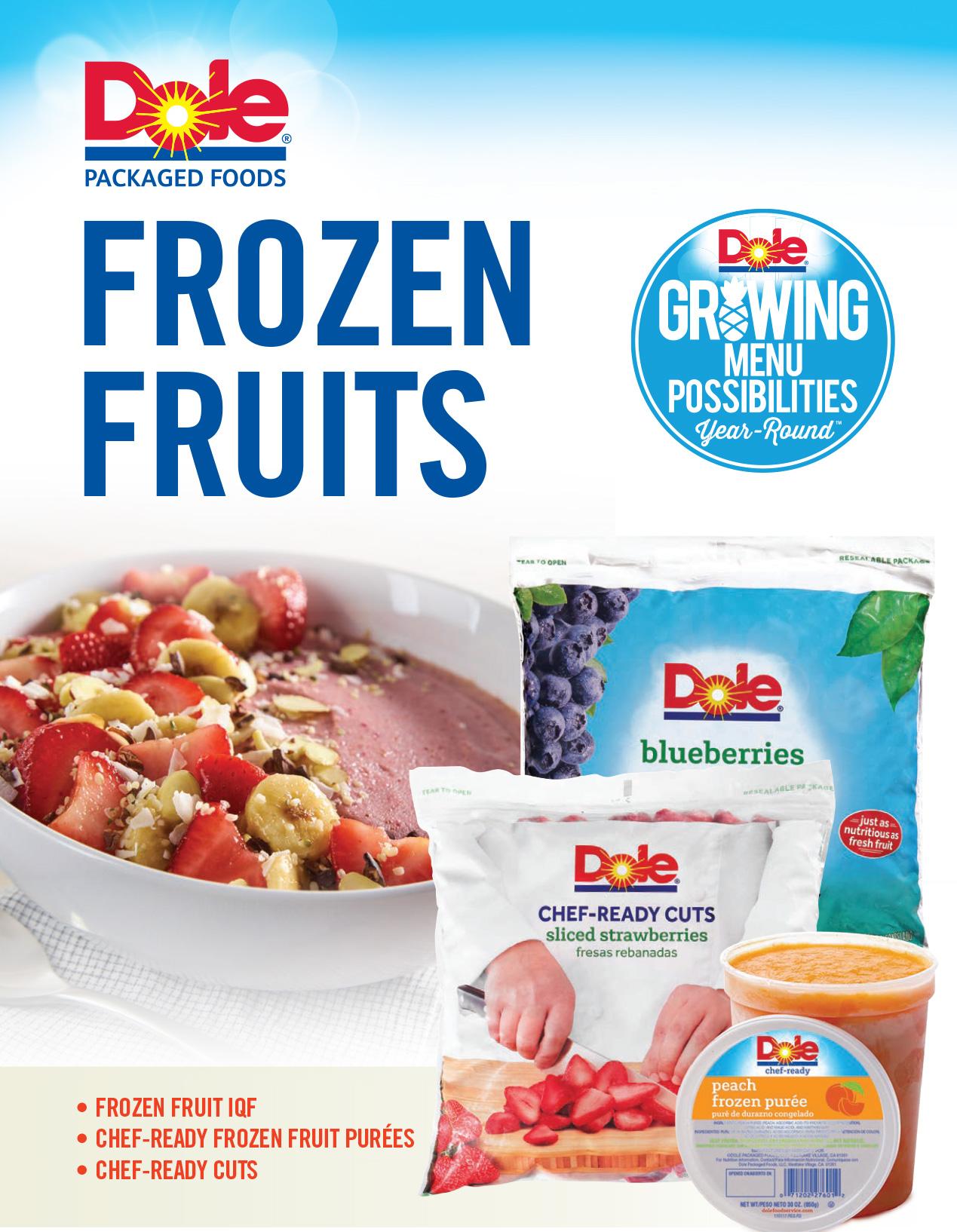Dole frozen fruit brochure