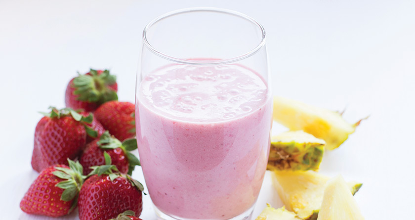 STRAWBERRY PINEAPPLE MILKSHAKE