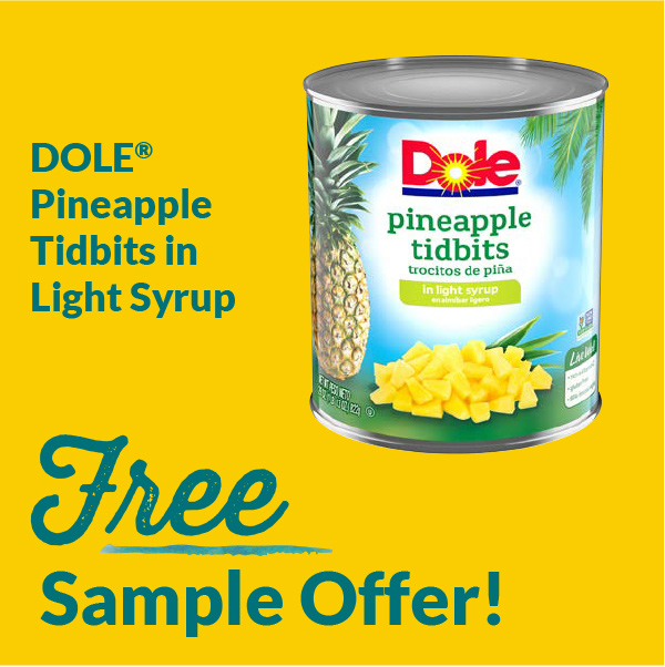 Free Sample Offers Pineapple Tidbits in Light Syrup