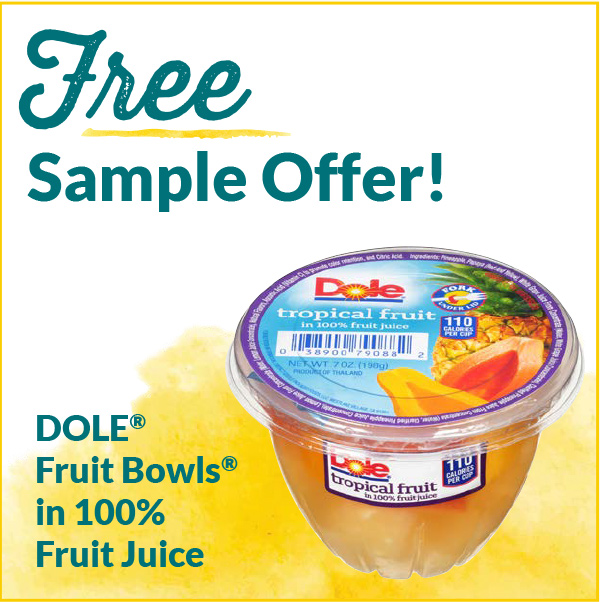 Free Sample Offers Dole Fruit Bowls in 100% Fruit Juice