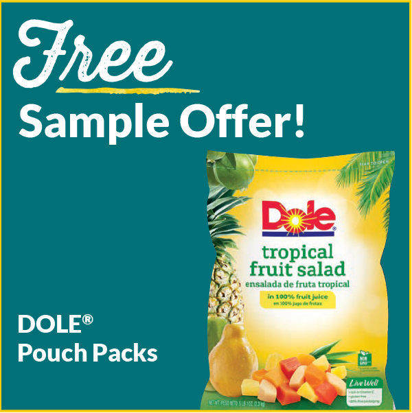 Free Sample Offers Dole Pouch Packs