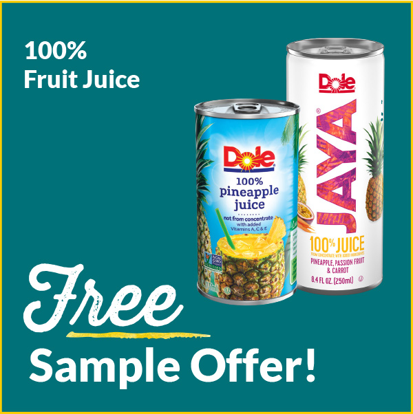 Free Sample Offers Dole 100% Juice