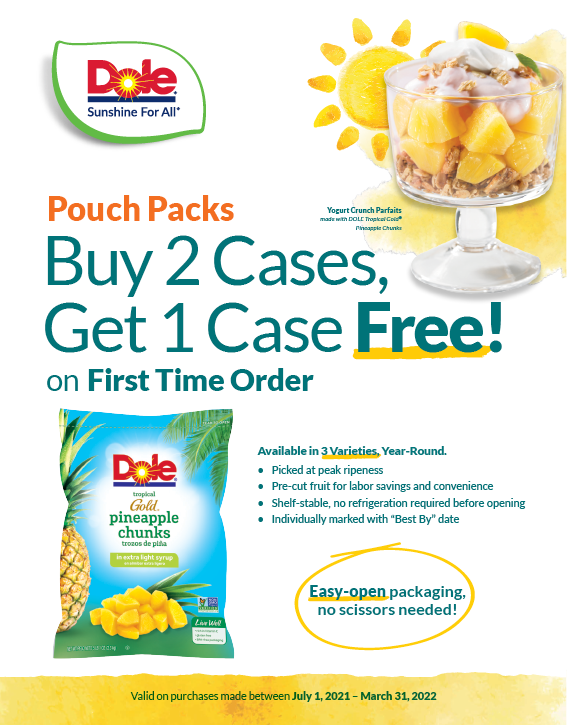 Pineapple Tidbits Trial Coupon (July 1 - March 31, 2022)