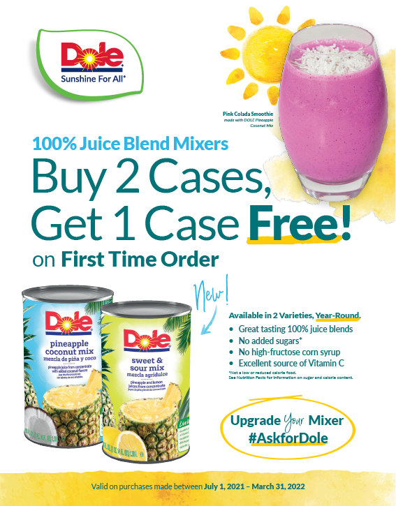 Tropical Fruit Trial Coupon (July 1 - March 31, 2022)
