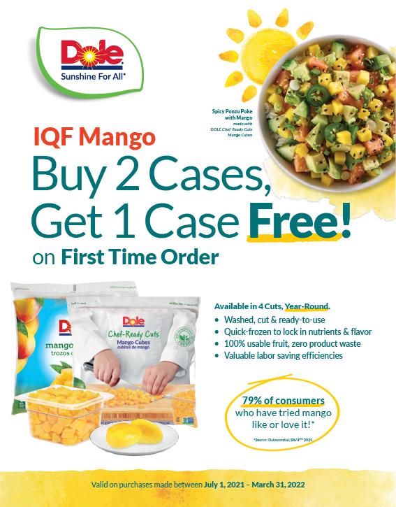 IQF Mango (July 1 - March 31, 2022)