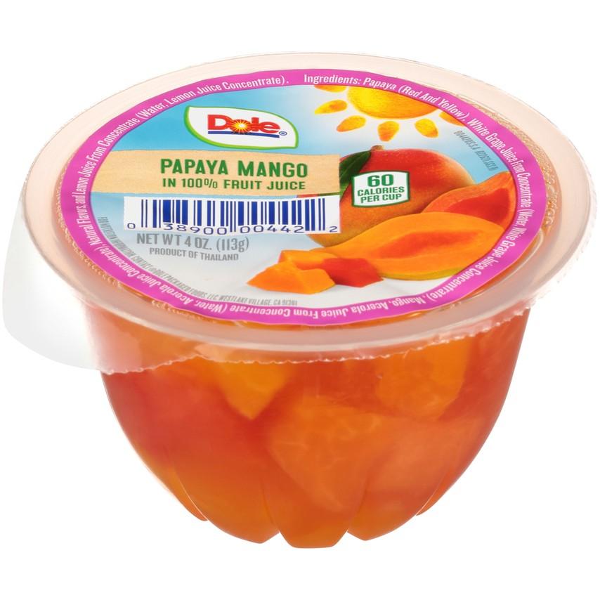 36/4 Oz. Dole Fruit Bowls® In 100% Fruit Juice Papaya Mango