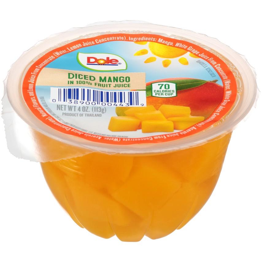 36/4 Oz. Dole Fruit Bowls® In 100% Fruit Juice Diced Mango