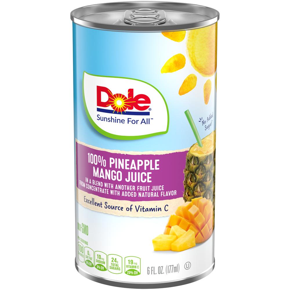 6/6 Oz. 100% Pineapple Mango Juice
