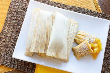 Brazilian Steamed Sweet Corn and Pineapple Dessert (Sweet Pamonha)