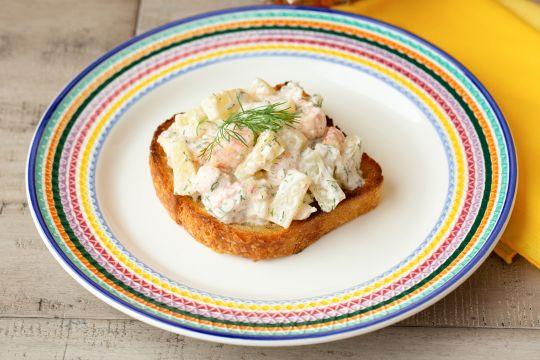 Skagen Toast (Citrus Glaze Shrimp Toast)