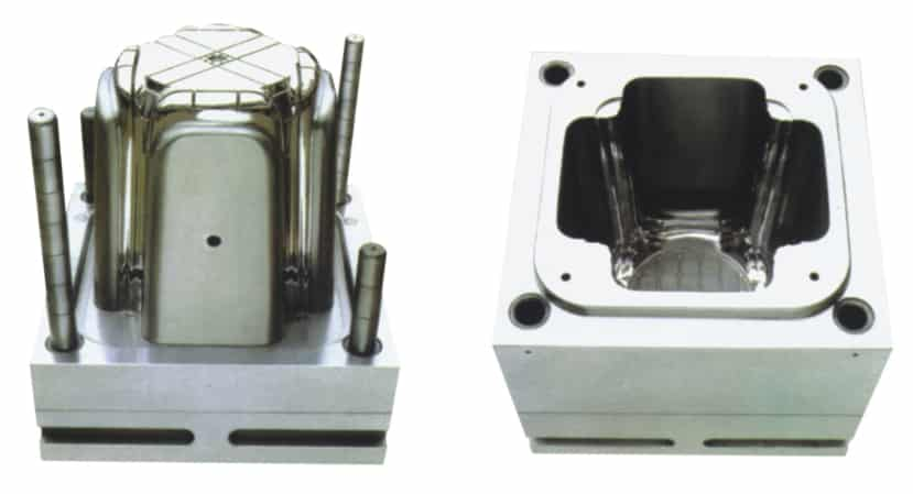 Plastic stool mould making